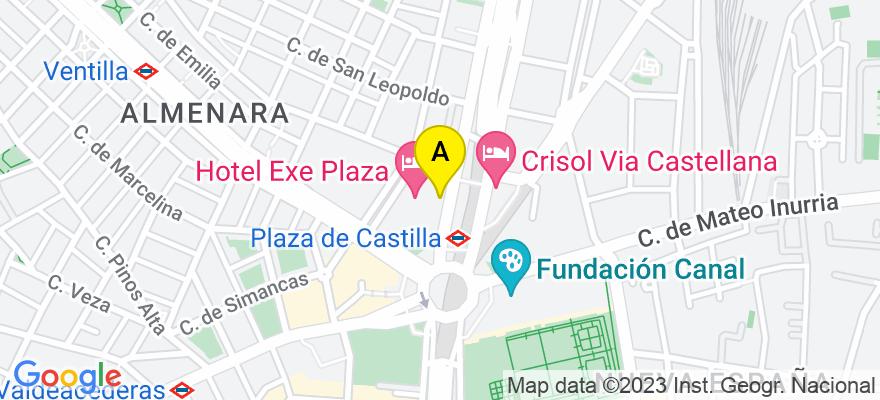 situacion en el mapa de . Direccion: Calle Paseo de la Castellana 193, 206, 28029 Madrid. Madrid