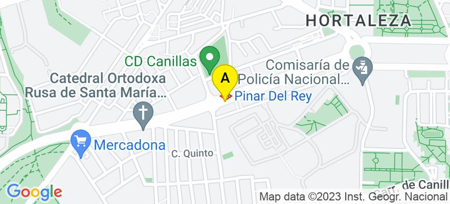 situacion en el mapa de . Direccion: Gran Vía 40, 7º, 28013 Madrid. Madrid