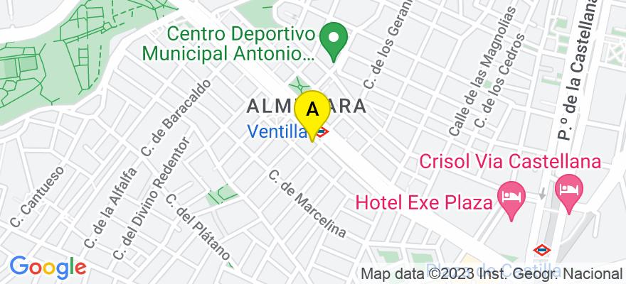 situacion en el mapa de . Direccion: Avda de Asturias, 39 - 1º E, 28029 Madrid. Madrid