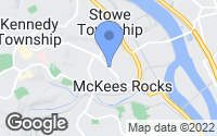 Map of McKees Rocks, PA