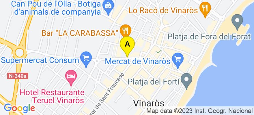 situacion en el mapa de . Direccion: CALLE DEL PILAR, Nº 26, 1º-A, 12500 Vinaròs. Castellón de la Plana