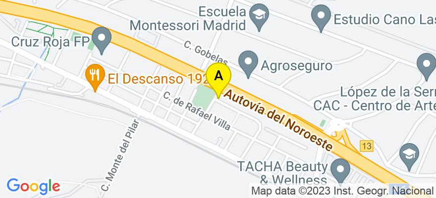 situacion en el mapa de . Direccion: C/ Durango 48, 28023 Madrid. Madrid