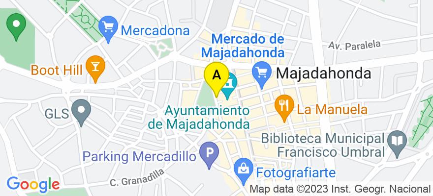 situacion en el mapa de . Direccion: C/MIRASIERRA Nº 5, 1º C, 28220 Majadahonda. Madrid
