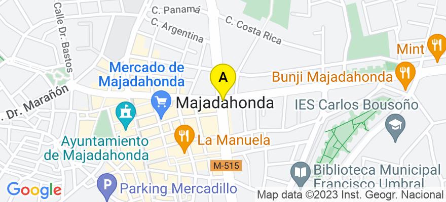 situacion en el mapa de . Direccion: La luna 5, 28220 Majadahonda. Madrid