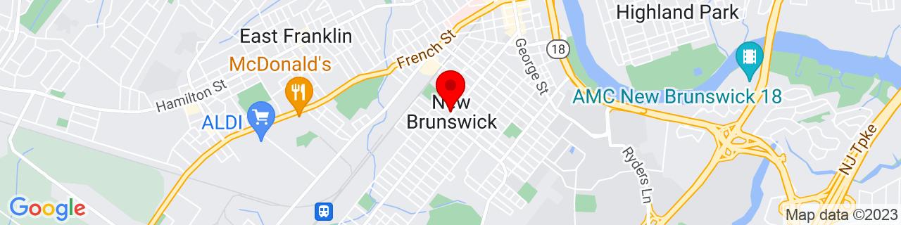 Google Map of 40.486111111111114, -74.45194444444445