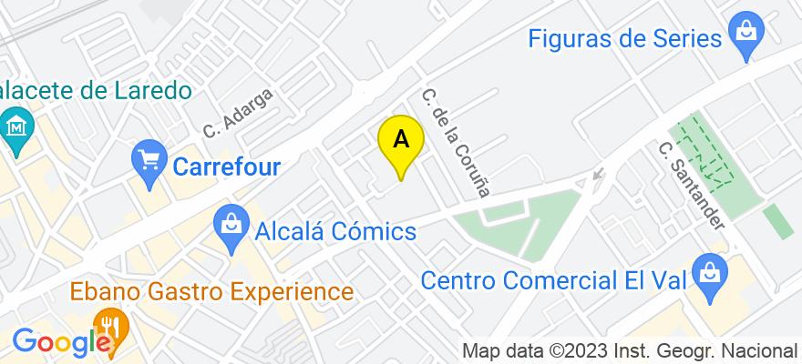 situacion en el mapa de . Direccion: Alcala 114 ,1A., 28009 Madrid. Madrid