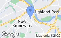 Map of New Brunswick, NJ