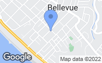Map of Bellevue, PA