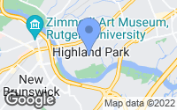 Map of Highland Park, NJ