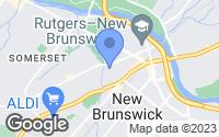 Map of New Brunswick, NJ
