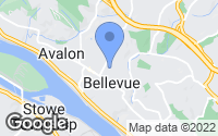 Map of Bellevue, PA