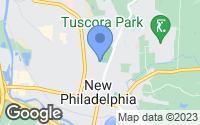 Map of New Philadelphia, OH