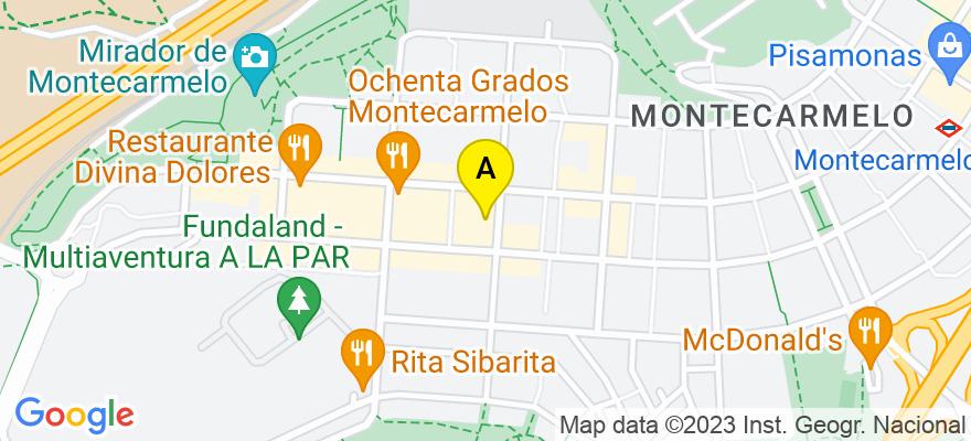 situacion en el mapa de . Direccion: Calle Monasterio de las Batuecas, 15, portal G, 4ºC, 28049 Madrid. Madrid