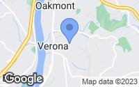 Map of Verona, PA