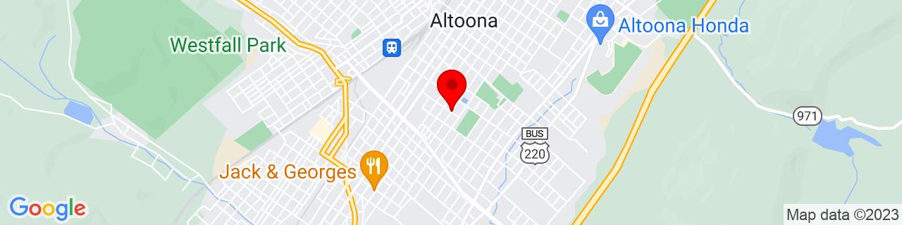 Google Map of 40.5086283, -78.394252