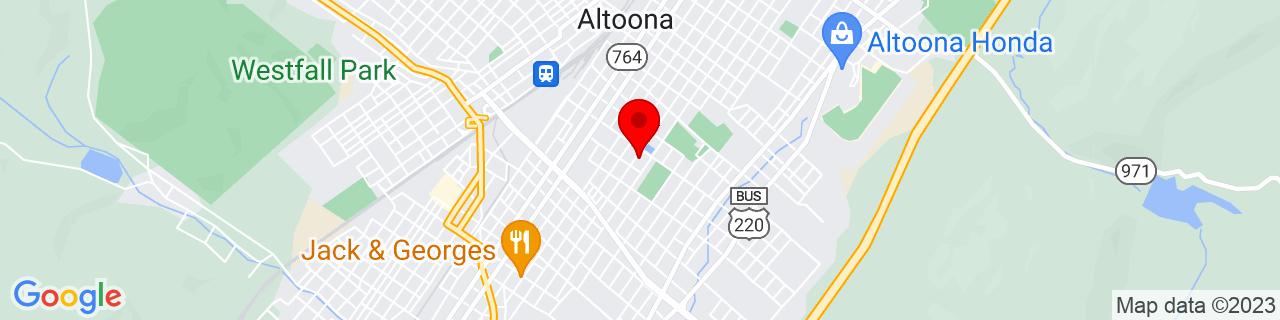 Google Map of 40.509021, -78.393534