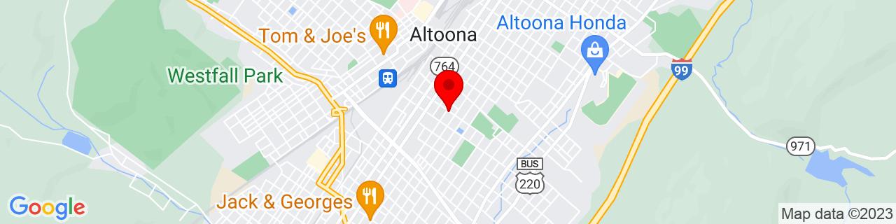 Google Map of 40.5114794, -78.39409979999999