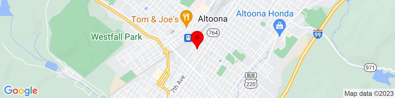Google Map of 40.51217889999999, -78.3990006