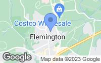Map of Flemington, NJ