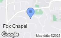 Map of Fox Chapel, PA