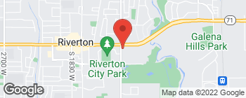 Map of 1283 W 12600 S in Riverton