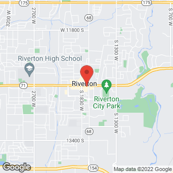 Map of Arby's at 1731 W 12600 S, Riverton, UT 84065