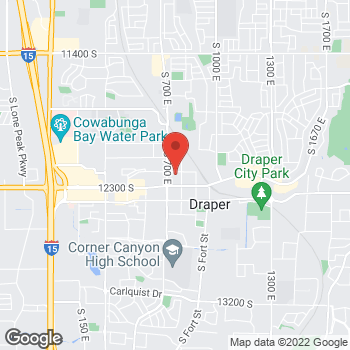 Map of Justin Hill, MD at 756 E 12200 S, Draper, UT 84020