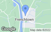 Map of Frenchtown, NJ