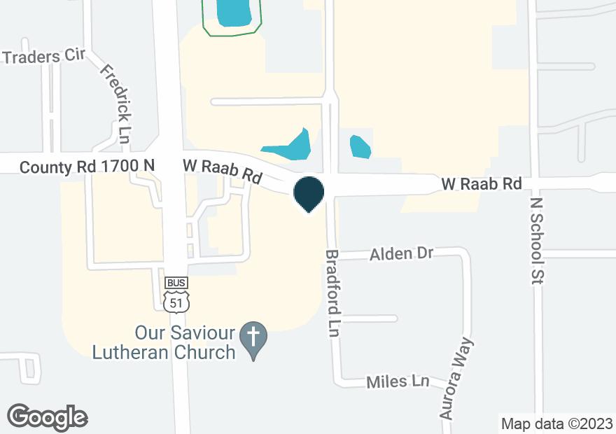 Google Map of505 W RAAB RD