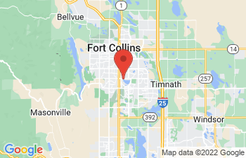 Map of Fort Collins