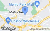 Map of Metuchen, NJ