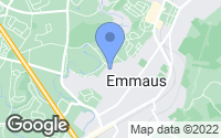 Map of Emmaus, PA