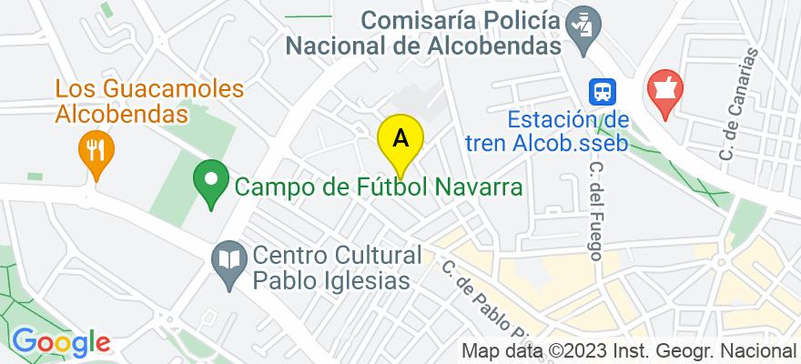 situacion en el mapa de . Direccion: Plaza Concordia 3., 28100 Alcobendas. Madrid