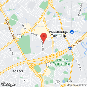 Map of Panera Bread at 21 Woodbridge Center Drive, Woodbridge, NJ 07095