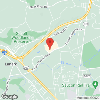 Map of Hair Cuttery at 3060 Center Valley Pkwy, Center Valley, PA 18034