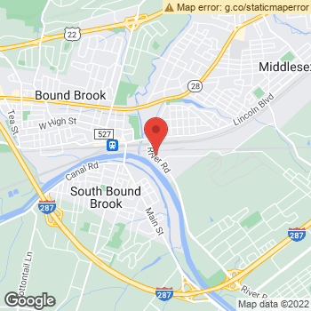 Map of Optimum WiFi Hotspot at 145 River Rd, Middlesex, NJ 08846