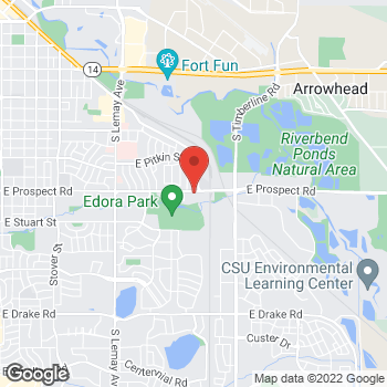 Map of Patrick D. Arnold, MD at 1725 E Prospect Rd, Fort Collins, CO 80525