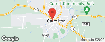 Map of 160 2nd St SW in Carrollton