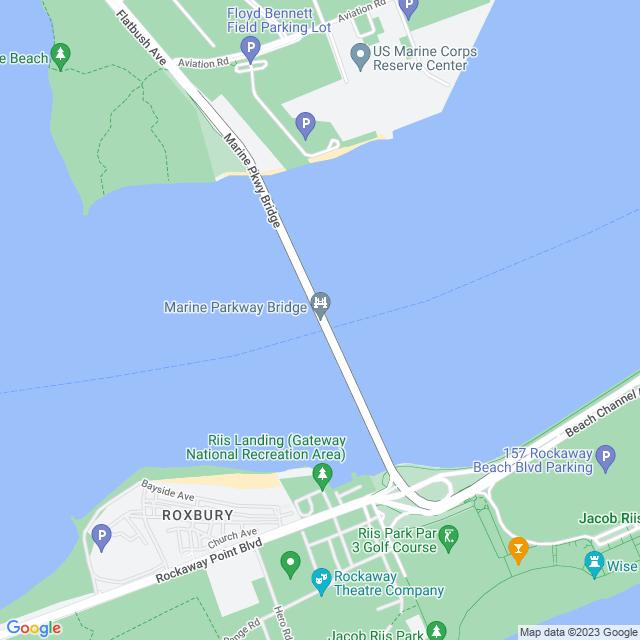 Map of Marine Pkwy Gil Hodges Memorial Bridge