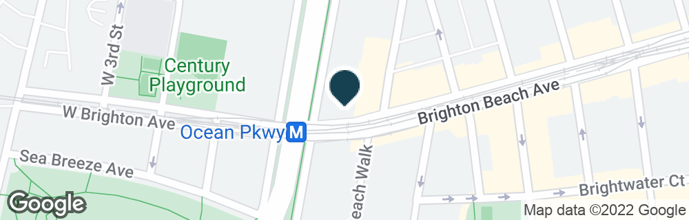 Google Map of105 BRIGHTON BEACH AVE