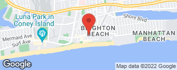 Map of 410 Brighton Beach Ave in Brooklyn