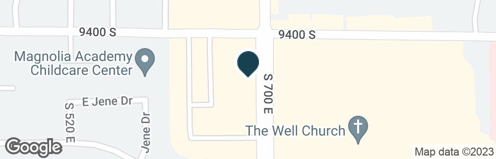 Google Map of9426 S 700 E