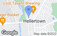 Map of Hellertown, PA