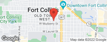 Map of 315 W Magnolia St in Fort Collins