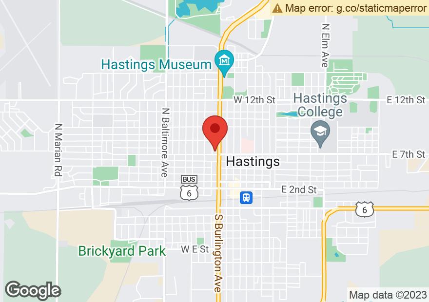 Google Map of 705 N BURLINGTON AVE