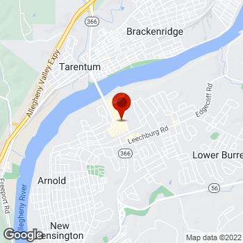 Map of Staples® Print & Marketing Services at 100 Tarentum Bridge Rd, New Kensington, PA 15068