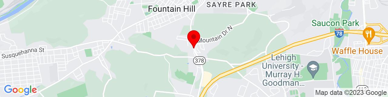 Google Map of 40.5929861, -75.388941