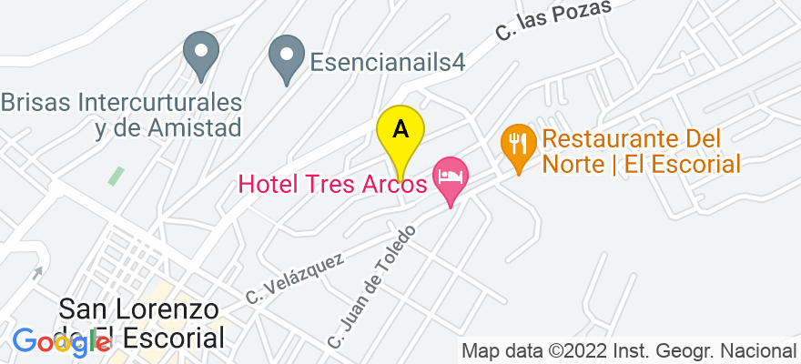 situacion en el mapa de . Direccion: c/Santa Clara, 19 Escalera A 1º A, 28200 San Lorenzo de El Escorial. Madrid