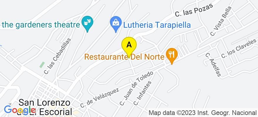 situacion en el mapa de . Direccion: Santa Rosa, 28200 San Lorenzo de El Escorial. Madrid