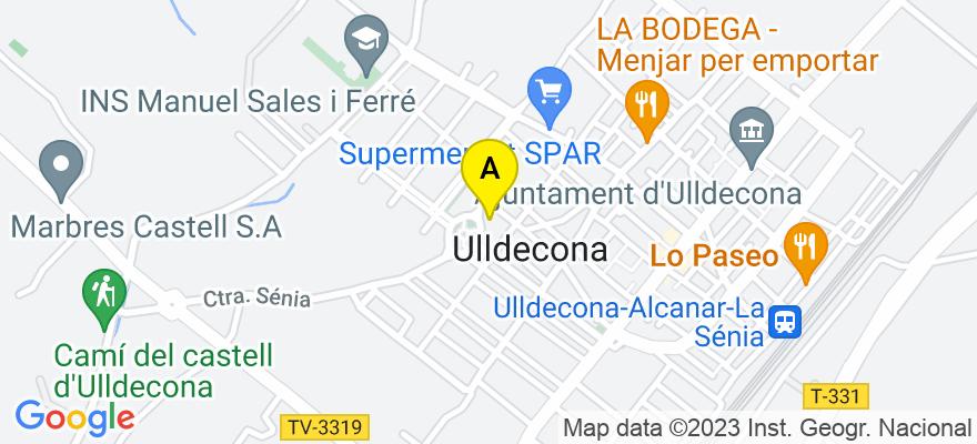 situacion en el mapa de . Direccion: PL. CATALUNYA, Nº 3, 1ER-D, 43550 Ulldecona. Tarragona